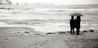 zimą nad morze